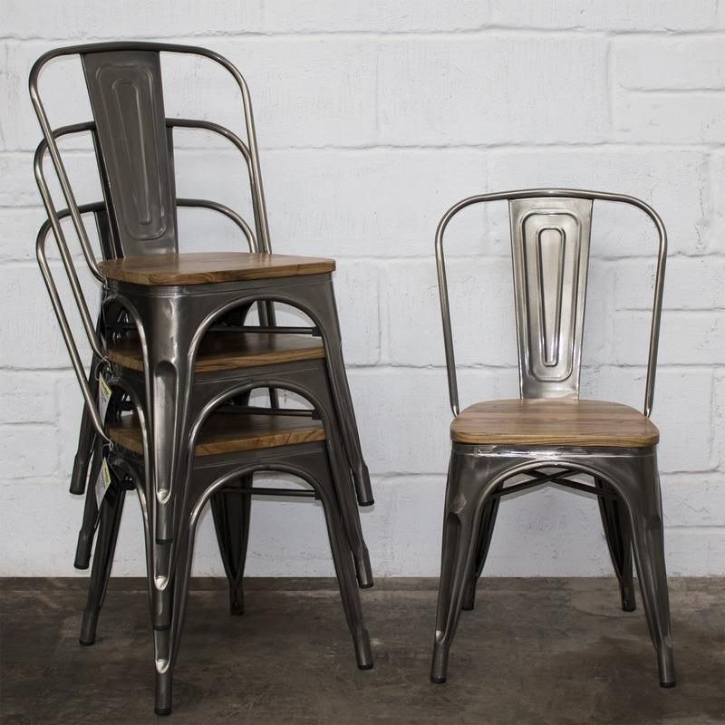 Palermo Chair Steel In 2020 Industrial Dining Chairs Metal