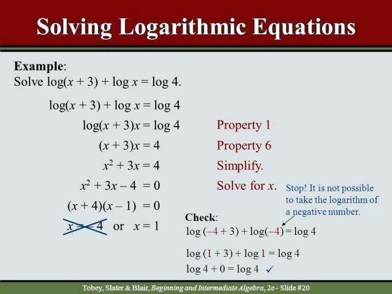 26 Solving Logarithmic Equations Worksheet Solving Exponential And Logarithmic Equations Work Equations Algebra Worksheets Solving
