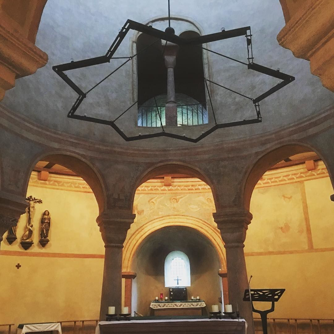 Inside the very lovely St. Martin's #Church in #Fulda. The altar is at the base of a round tower. #architecture #design #history #culture #religion #christian #christianity #star #cross #crucifix #travel #tourism #tourist #IgersFulda #Hesse #Deutschland #Germany #ontour #life #explore #seetheworld
