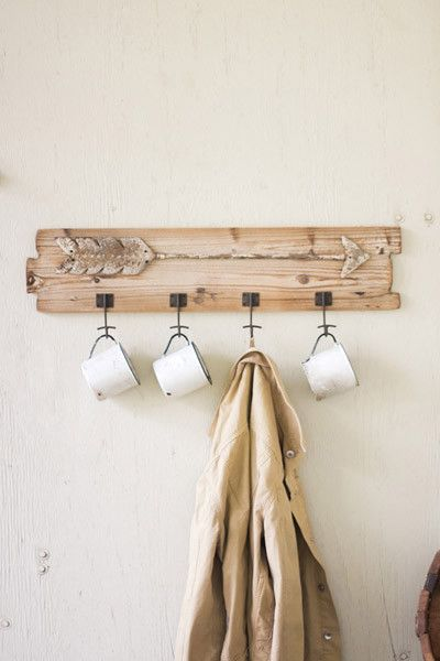 $75 recycled wooden coat rack with rustic arrow detail