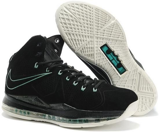 http://www.asneakers4u.com Nike Lebron 10 2013 Official Correct Version Black Green Running Shoes0
