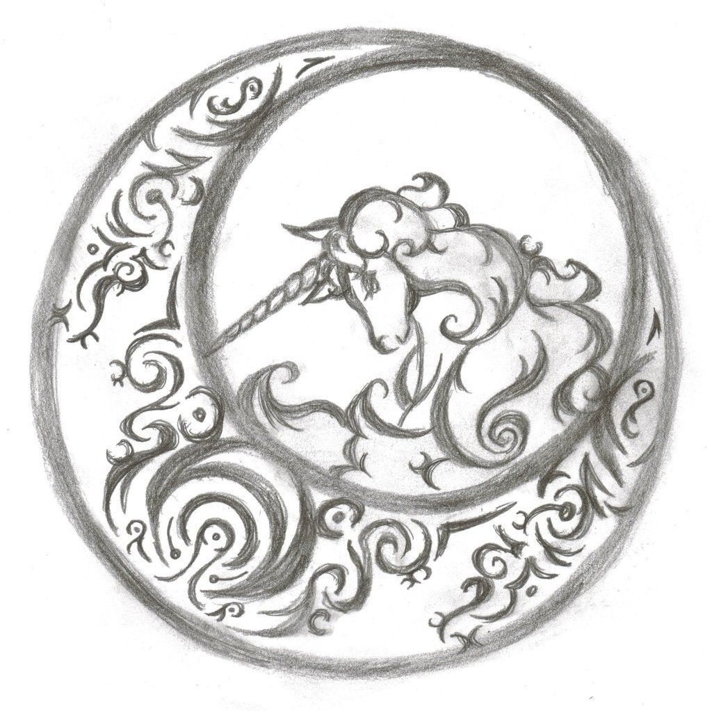 cool easy art drawing ideas 3 Decoration Unicorn