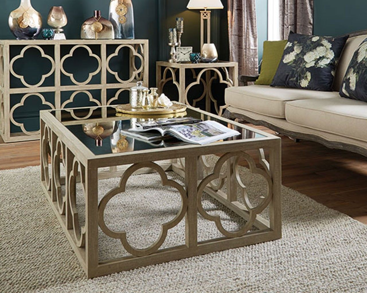Filigree Mango Wood Coffee Table Pinterest Wood coffee