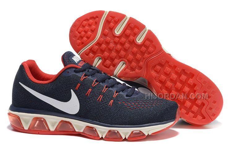 175b6904fb 2016 Nike Air Max Tailwind 8 Print Sneakers Dark Blue/Red Mens Running Shoes  805941-008