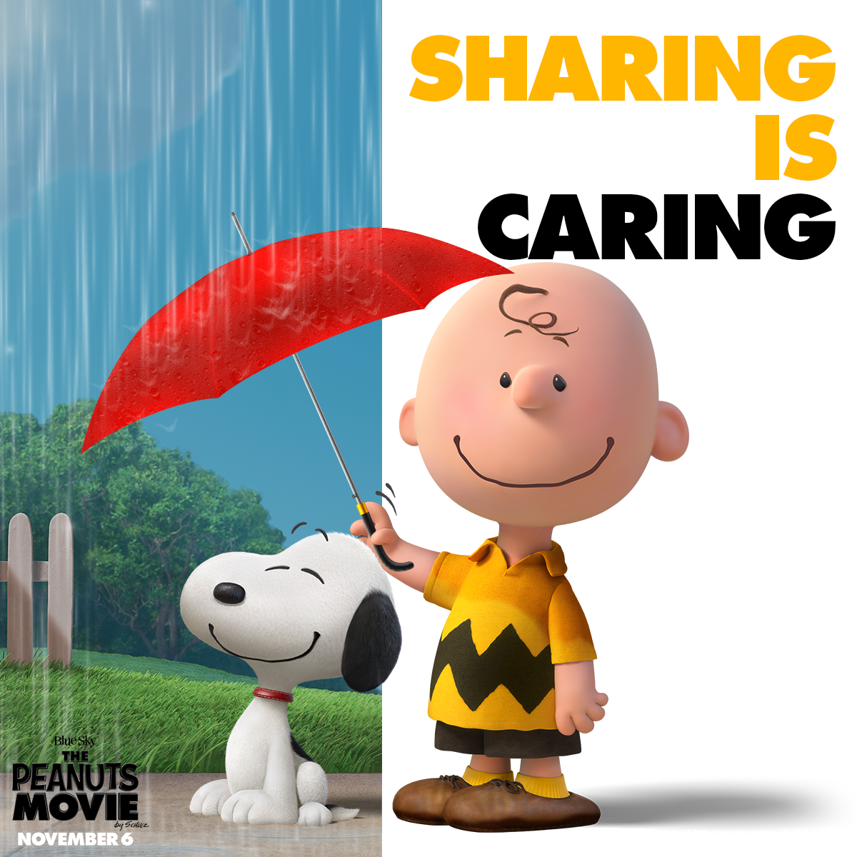 dd2f4d0b6 Sharing is caring! Watch the Peanuts Movie gang put their best foot ...