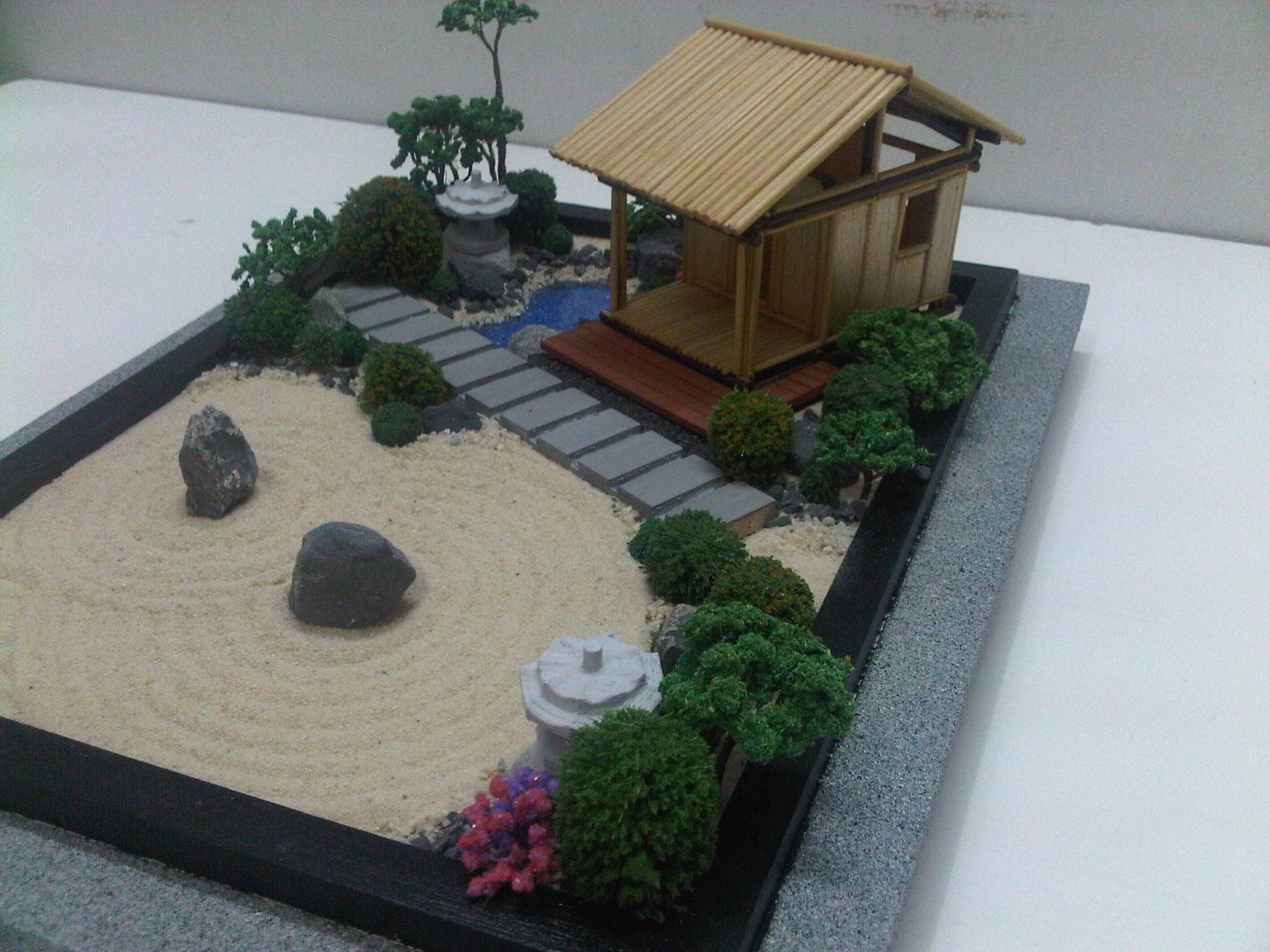 A Tea House On Zen Garden By Wallzart Zen Garden Diy Zen Garden Miniature Zen Garden