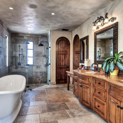 Knotty Alder Cabinets Bathroom Design Ideas Pictures Remodel And
