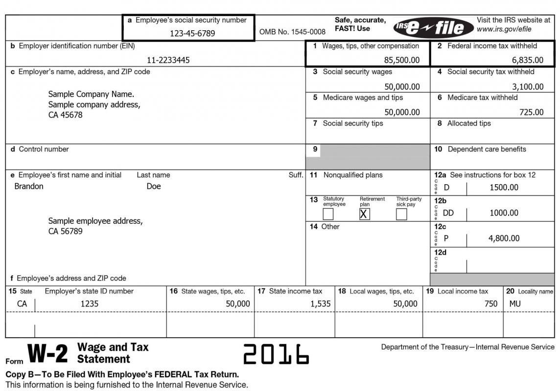 2015 W2 Form Free W2 Template 2016 W2 Forms Statement Template Power Of Attorney Form