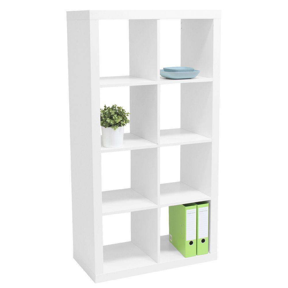 Malmo 8 Cube Bookcase Unit White