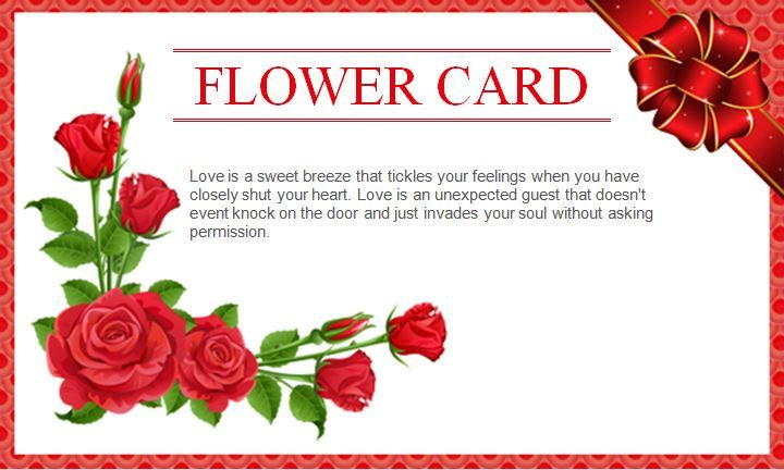 Best Wishes Flower Card Gift Template Word Business Templates - birthday card word template
