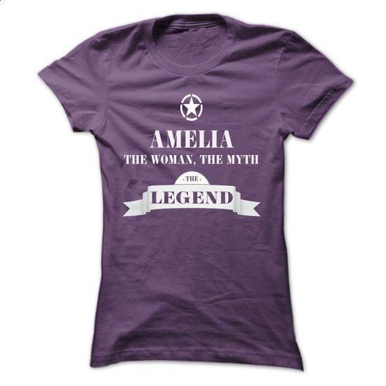AMELIA, the woman, the myth, the legend - #sweatshirt fashion #sweatshirt embroidery. BUY NOW => https://www.sunfrog.com/Names/AMELIA-the-woman-the-myth-the-legend-eljdlchyvd-Ladies.html?68278