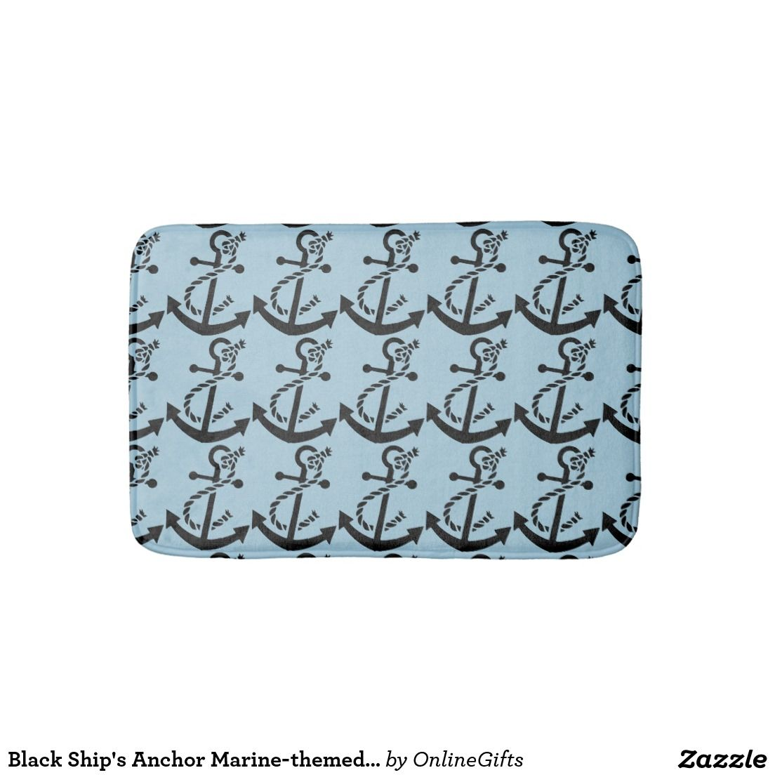Black Ship's Anchor Marine-themed Nautical Design