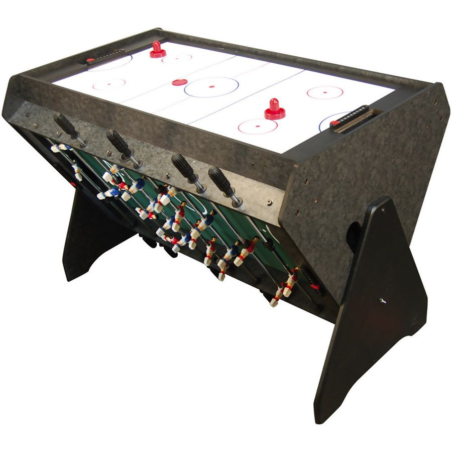 Genial Space Saving Three In One Game Table (Foosball, Air Hockey, Mini Billiards)