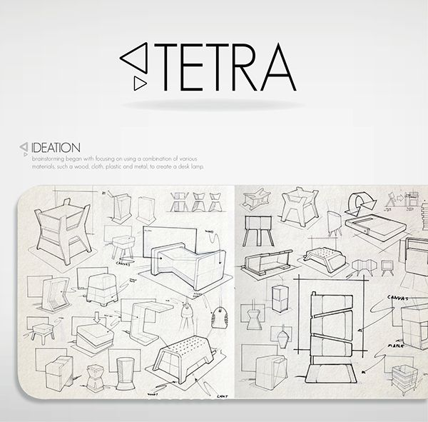 Industrial BehanceDrawings Desk Design Sur Lampe De Tetra kXPTOZiu