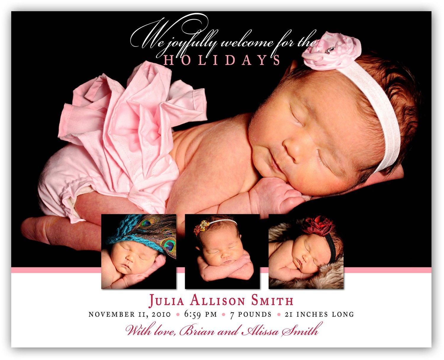 Holiday Baby Announcement The Holidays came by JamesPaigeDesign – Holiday Baby Announcements