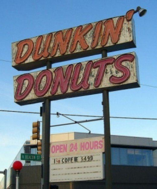 Dunkin Donuts Coffee Recipes 빈티지 빈티지 스타일