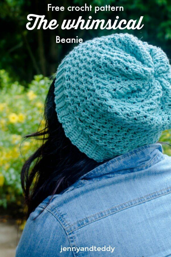 Free crochet pattern the whimsical beanie by jennyandteddy | Beret ...