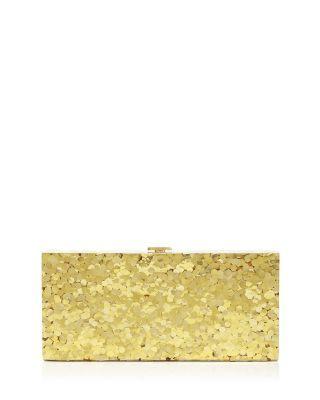 HALSTON HERITAGE Sparkle Flat Minaudière. #halstonheritage #bags #shoulder bags #glitter #crossbody #