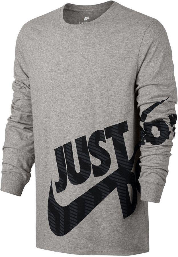 3183b8277f Nike Men s Sportswear Logo Long-Sleeve T-Shirt
