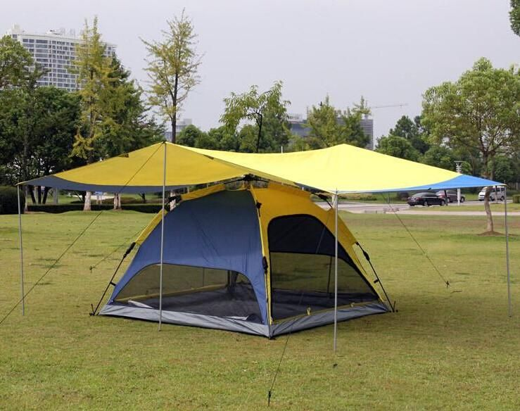 Automatic HIking C&ing Tents and Shelters Double Layer For 3-4 People Use Mosquito Prevention Waterproof Ventilated Tents & Automatic HIking Camping Tents and Shelters Double Layer For 3-4 ...