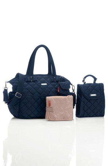 ddb966e2377b5 Storksak 'Bobby' Four Piece Diaper Bag   Nordstrom   Babers   Black ...