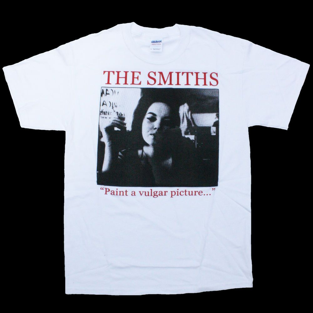 8348cb812 THE SMITHS T-SHIRT PAINT A VULGAR PICTURE MORRISSEY JOHNNY MARR ANDY ROURKE