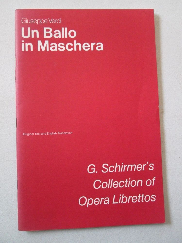 EN (G. Schirmer's Collection of Opera Librettos) book 11