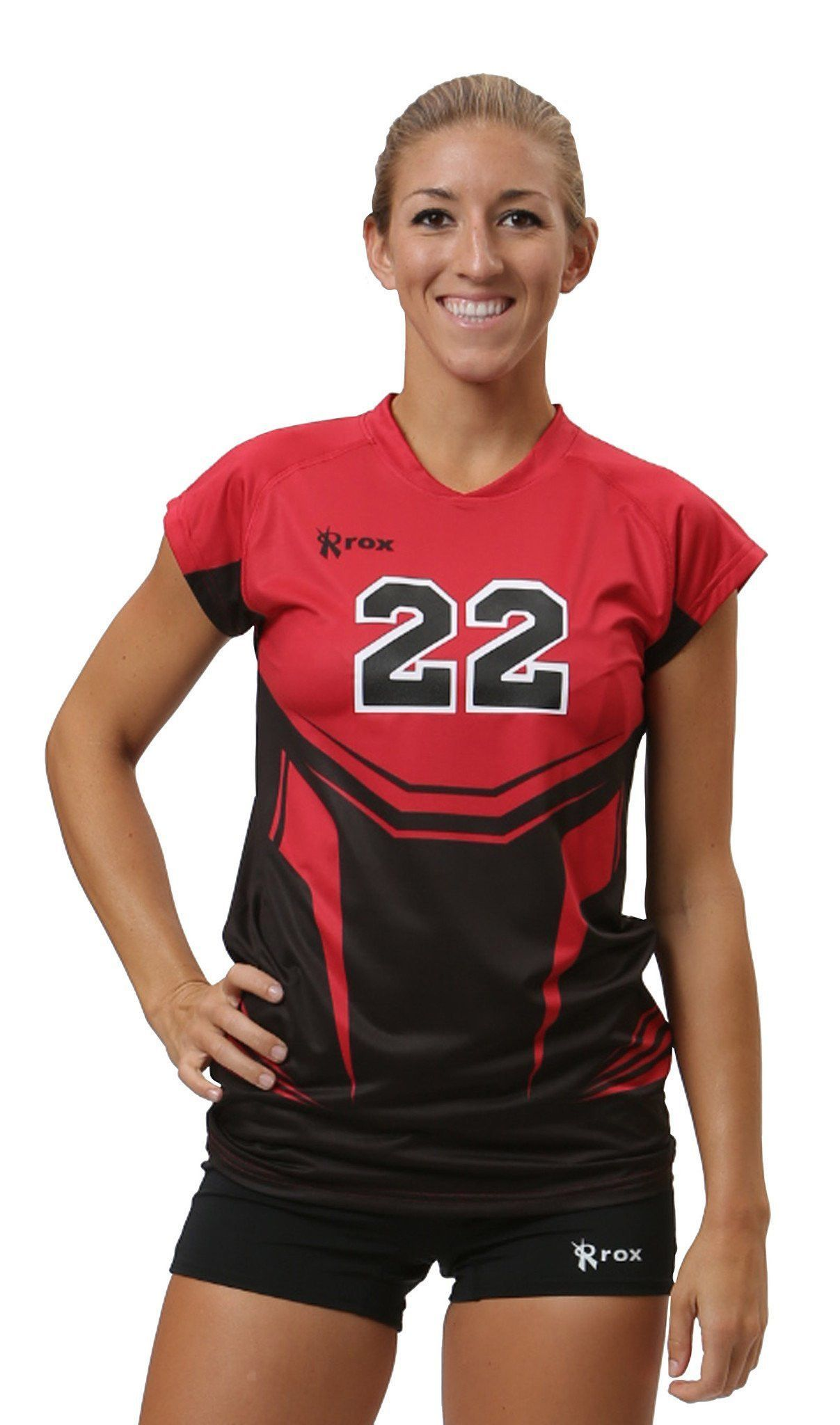 Phoenix Stock Cap Sleeve 1125 2390 Red Black Volleyball Jersey Design Cap Sleeves Black And Red