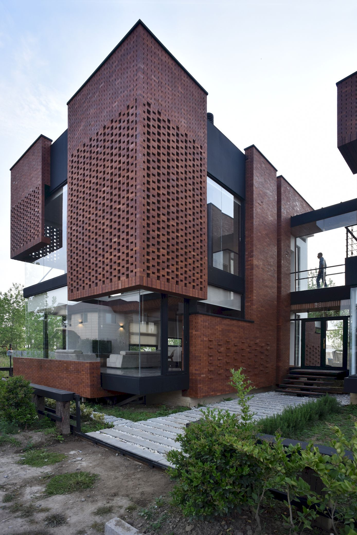 Maziar Brick House Naghshe Khak Architectural Group Arch2o Com Architecture Brick House Designs Facade House