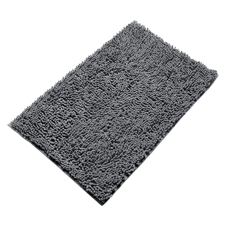 vdomus soft microfiber shag bath rug non-slip bathroom mat 20 x 32