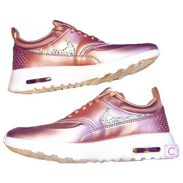 Nike Air Max Thea Limited Edition in Rose Gold With Swarovski Crystal... ( c41727fdd