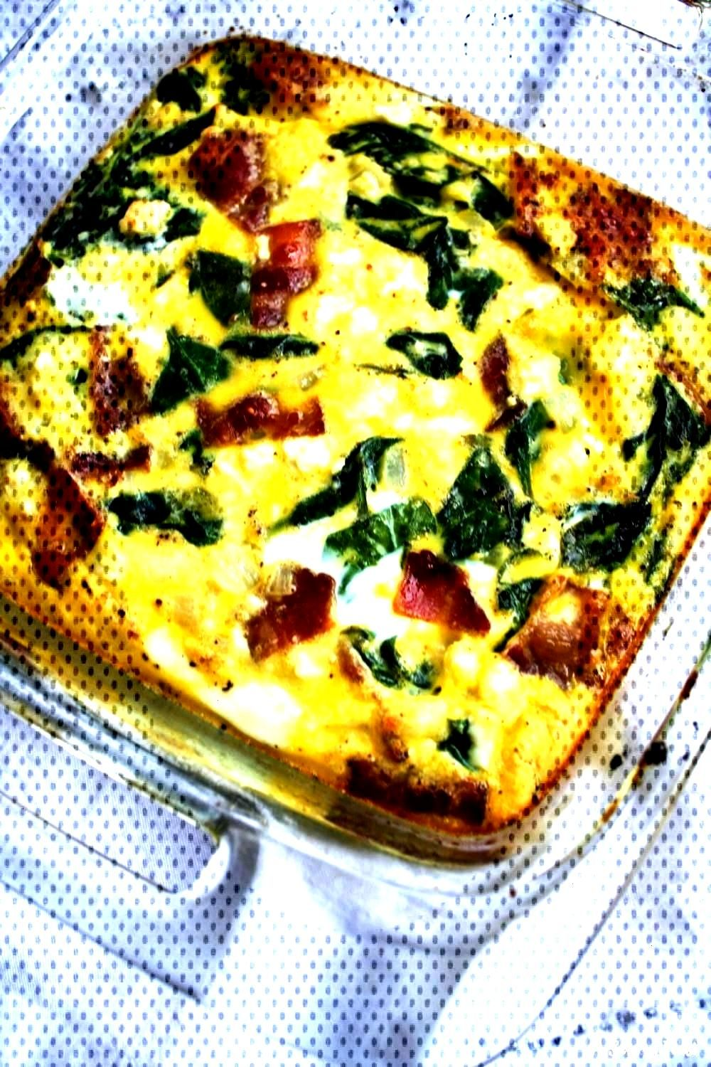 Spinach, Bacon and Feta Egg BakeYou can find Egg casserole recipes and more on our website.Spinach,