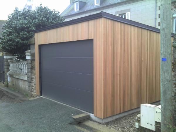 Garage Bois Ou Parpaing Bardage Sur Inspirant Cout Construction Au M2 Garage Bois Bardage Bois Exterieur Garage Bois Toit Plat