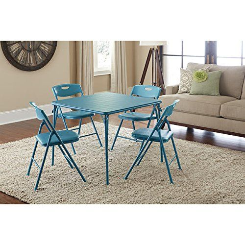 Cosco Vinyl Folding Table With Chairs Set Game Table Poker