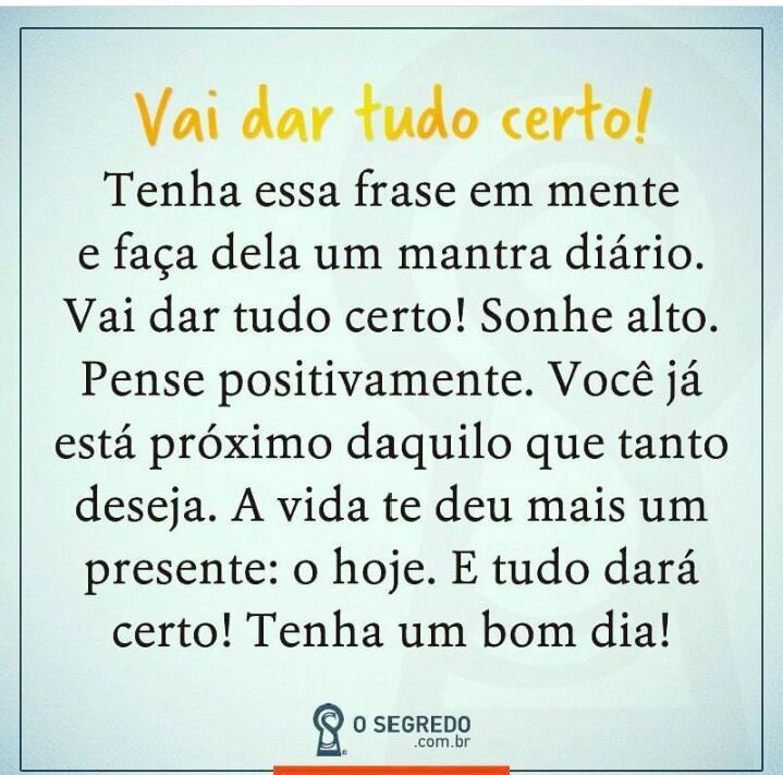 Vai Dar Tudo Certo Life Quotes Quotes Words Frases