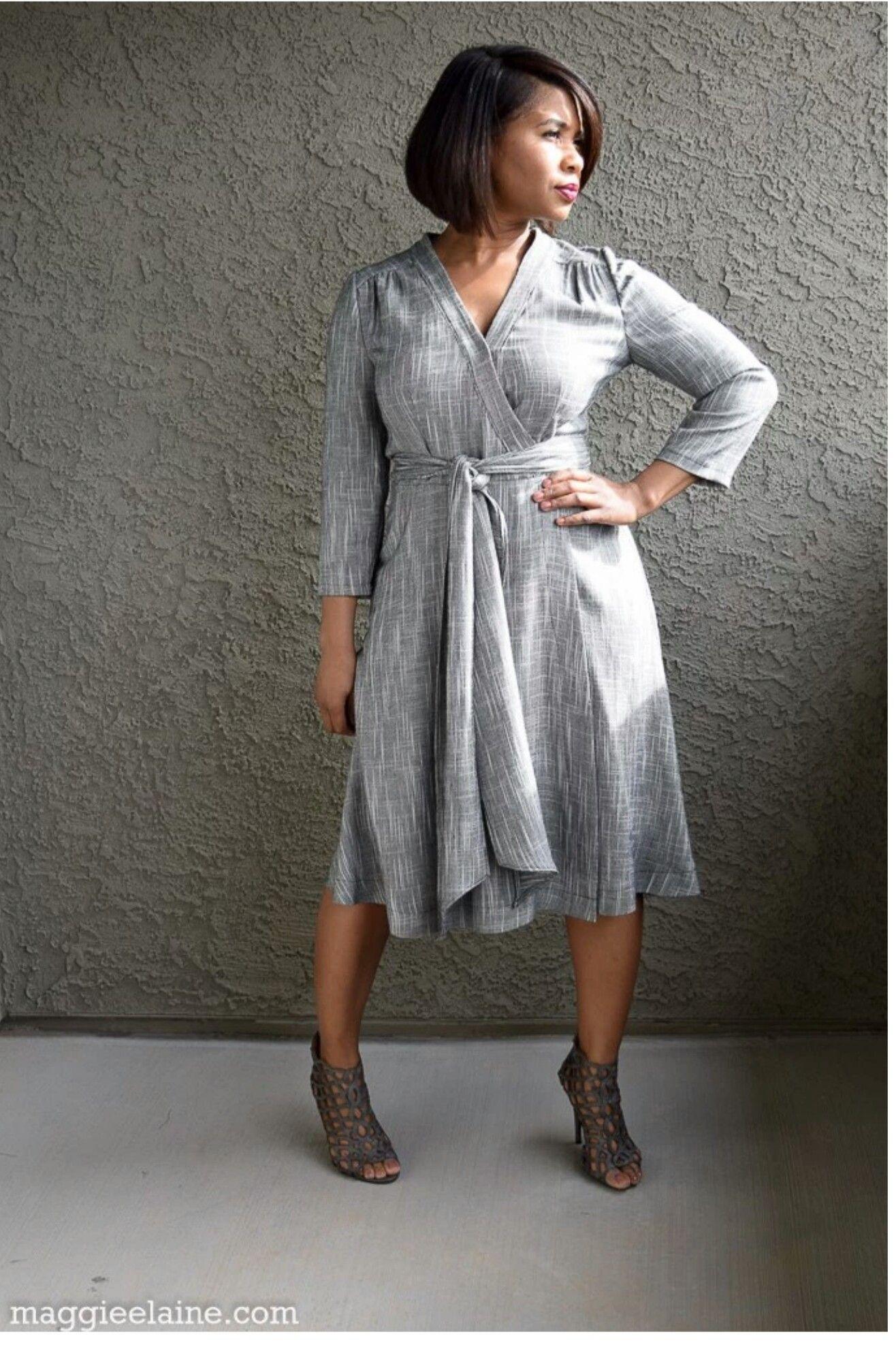 DIY Wrap Dress Butterick B5030 | Fan Gallery Board | Pinterest