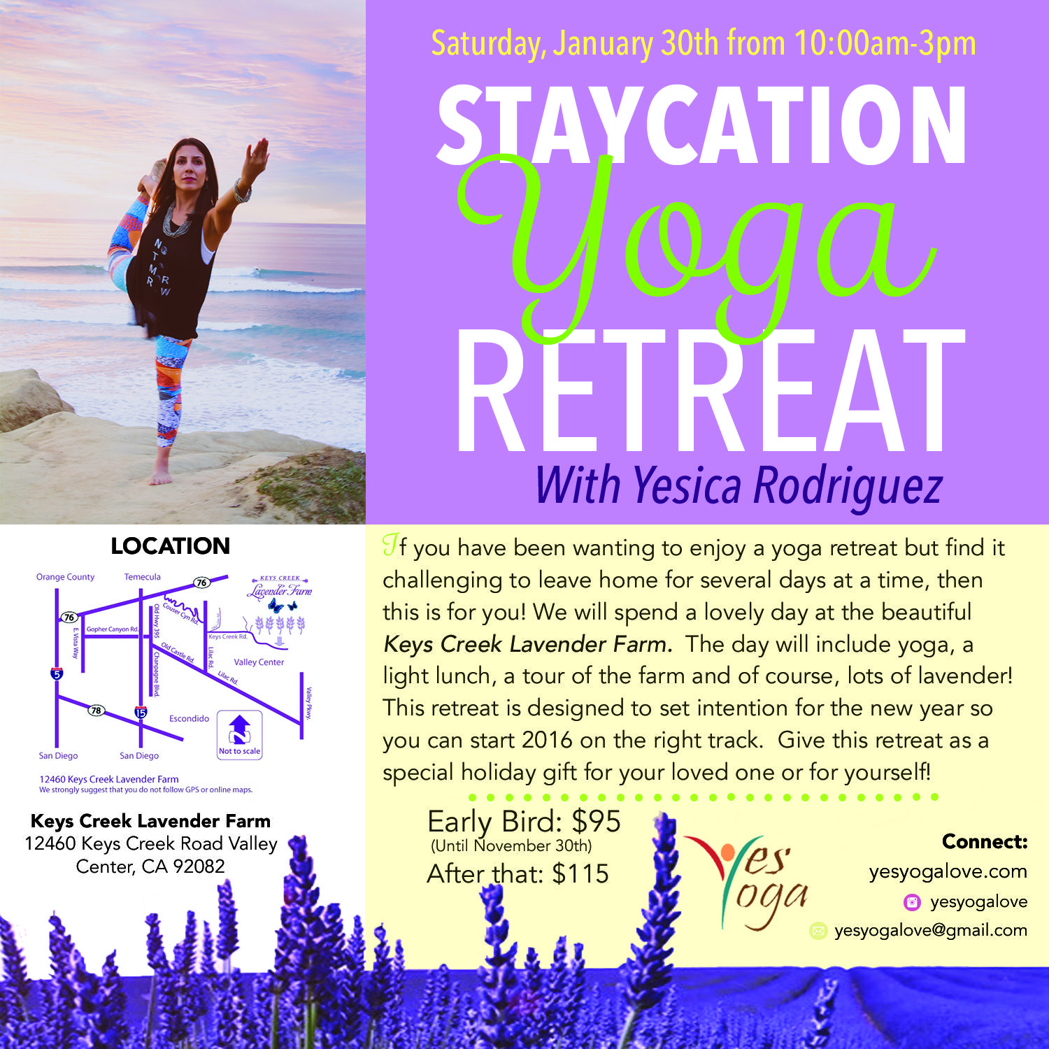 Staycation Yoga Retreat Flyer Design. Client Yes Yoga. #flyer ...
