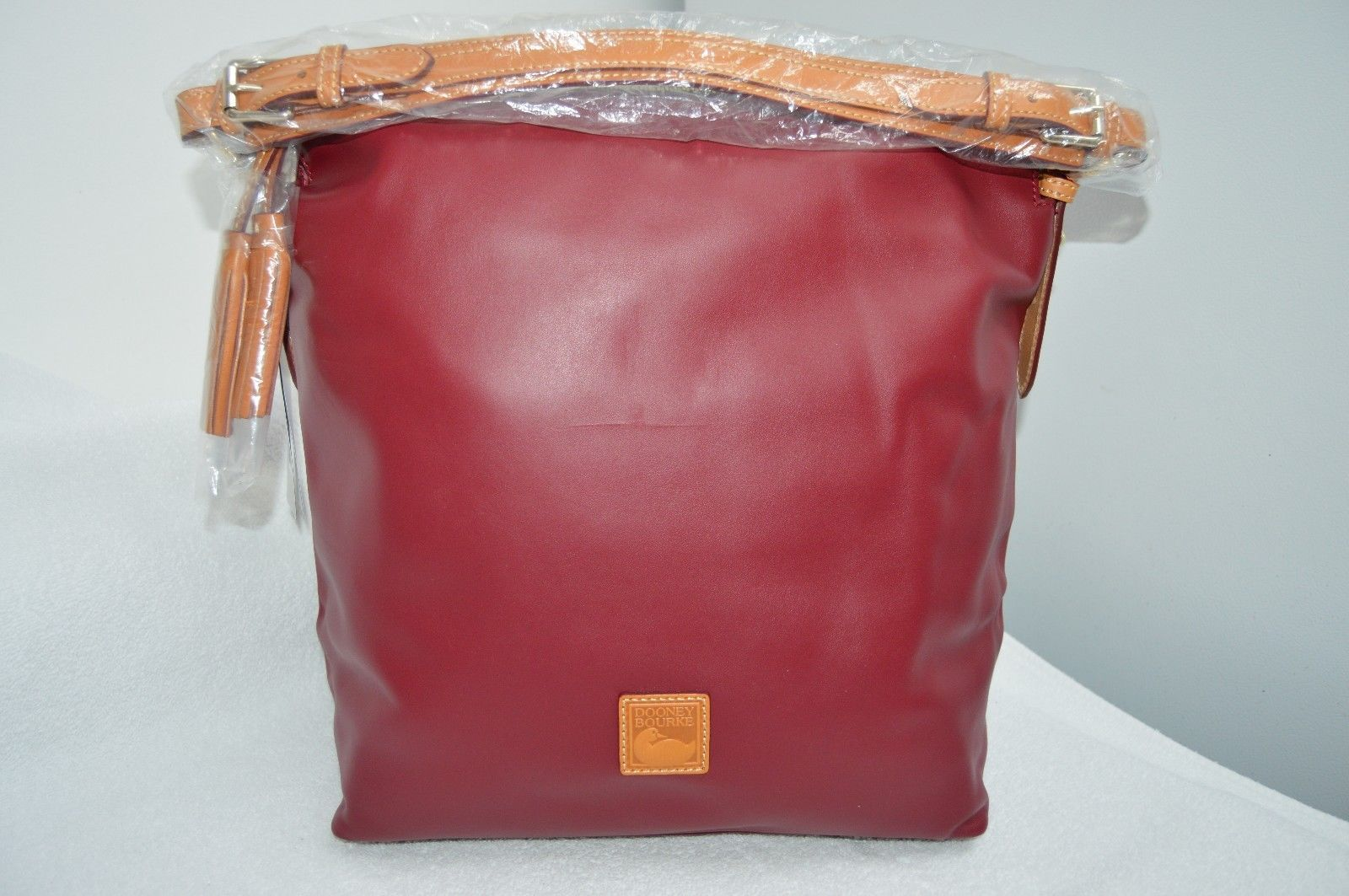 31aa47bb6c Dooney   Bourke WINE Smooth Leather McKenzie Hobo  89.99
