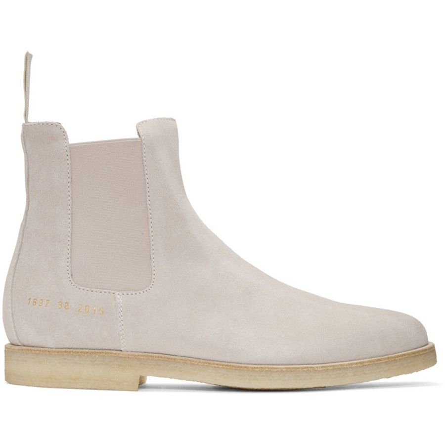Common Projects Pink Suede Chelsea