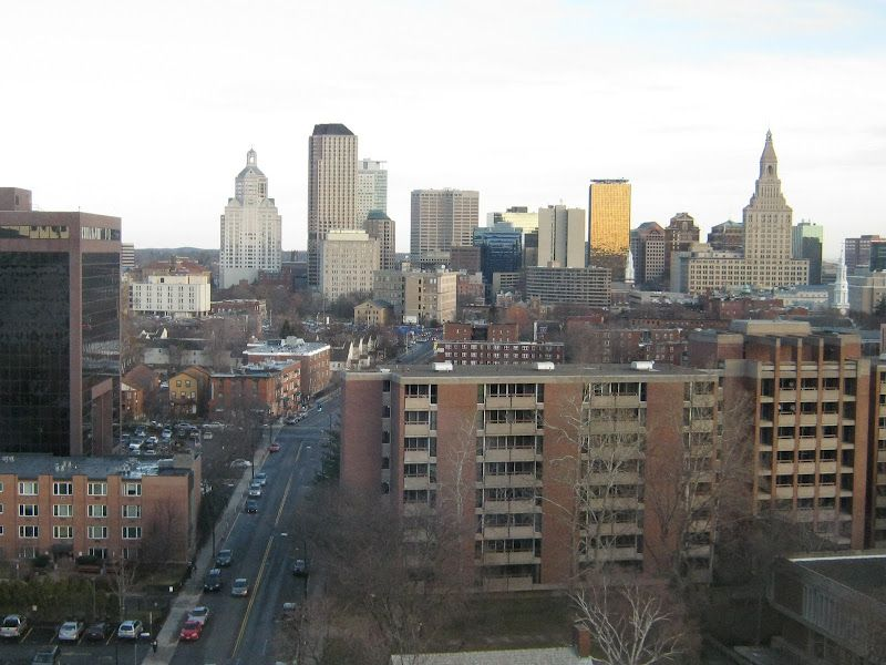 Skyline of Hartford Connecticut. Click to view on Google Earth.