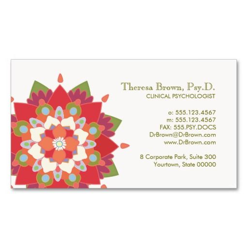 Lotus Logo Wellness and Mental Health Appointment Business Card - sample appointment card template