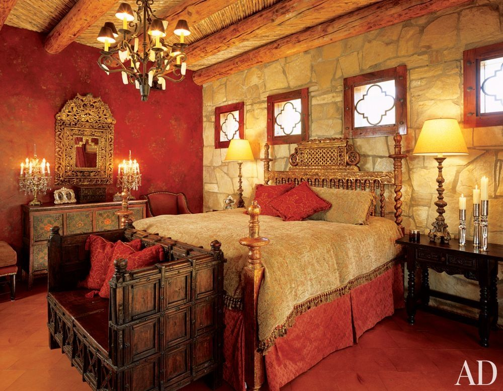 Exotic Bedroom by Catherine Badger in Texas   Red Room   Pinterest