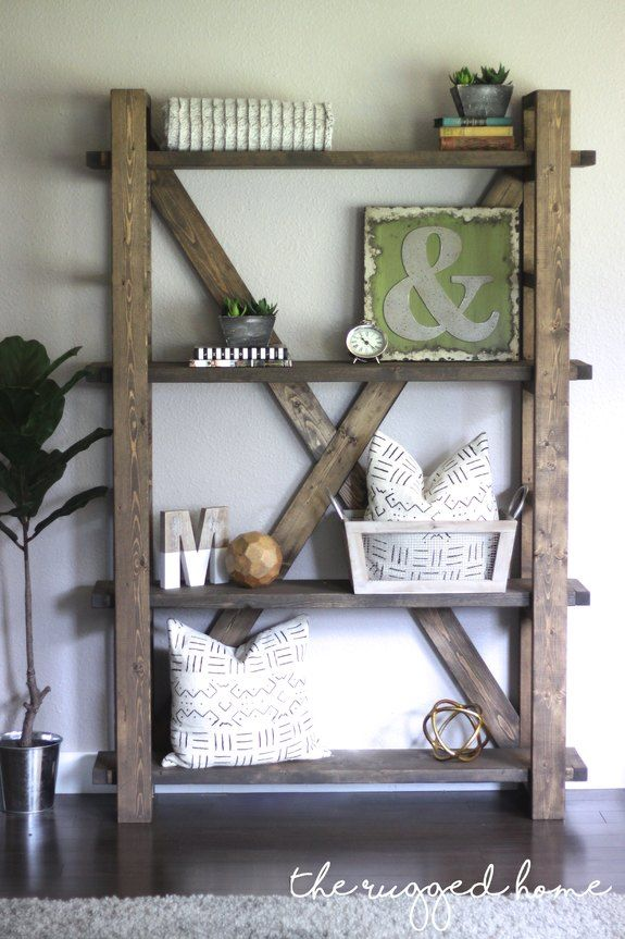 Easy Ways To Style A Modern Farmhouse Bookcase Farmhouse Style Farmhouse Decor Reclaimed Wood Farmhouse Shelves Decor Bookcase Decor Farmhouse Bookshelf