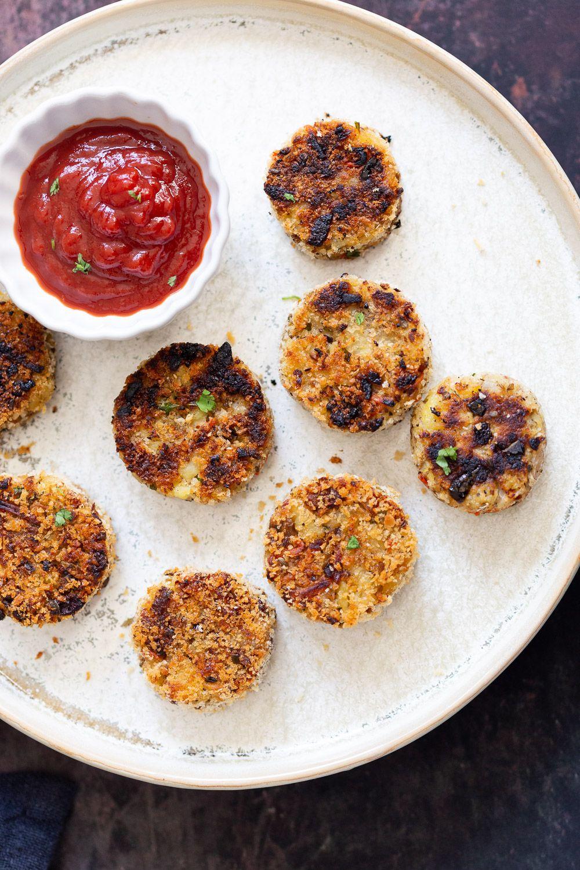 Potato Cauliflower Patties Vegan