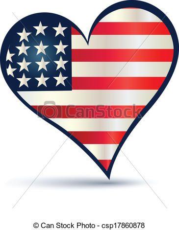 Vectors Illustration Of Heart Usa Flag Vector Logo Heart Usa Flag Vector Icon Logo Csp17860878 Search Clipart Illustra Flag Vector Vector Logo Art Icon