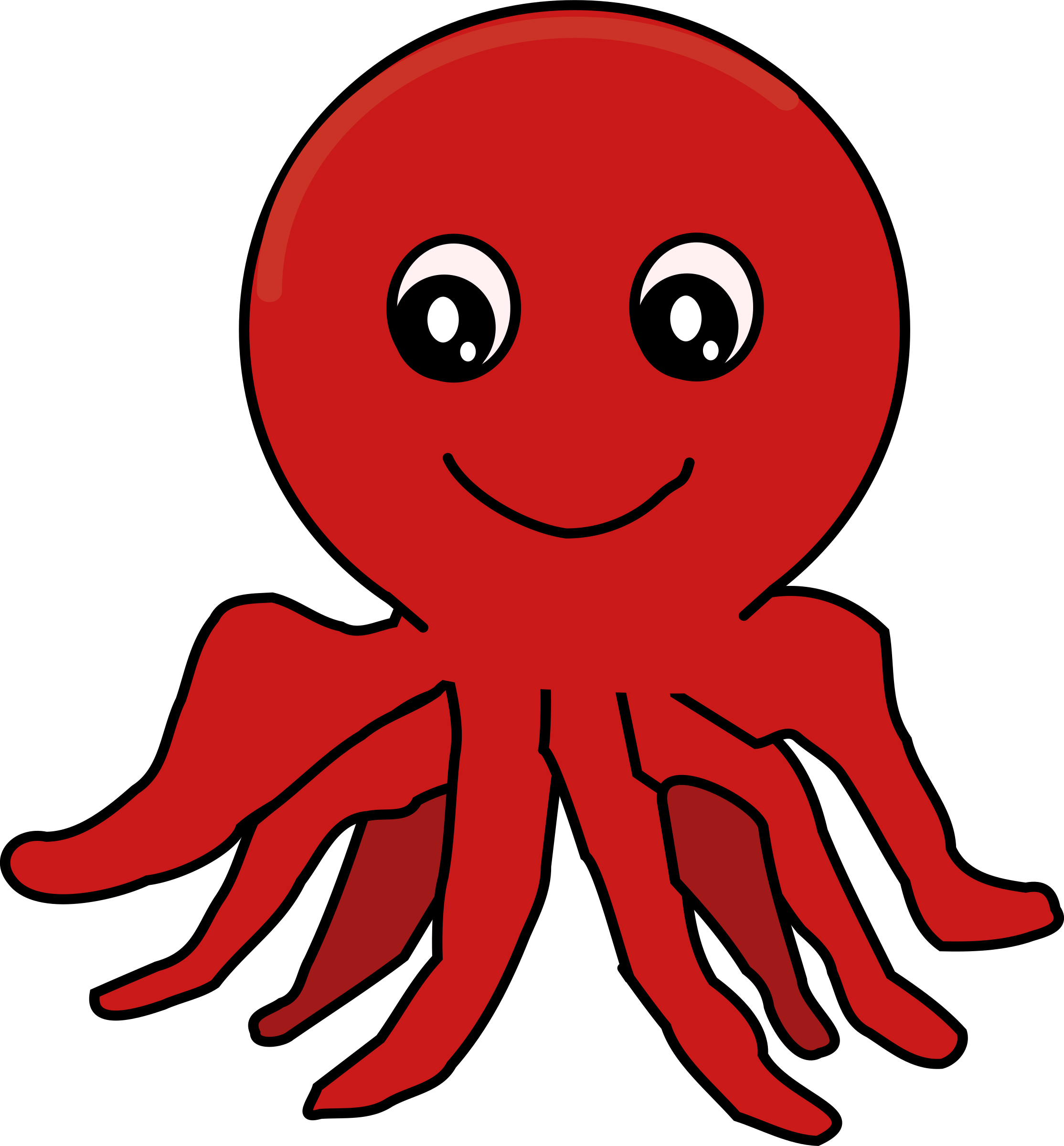 Red Cartoon Octopus by j4p4n | thing to do new | Pinterest | Cartoon