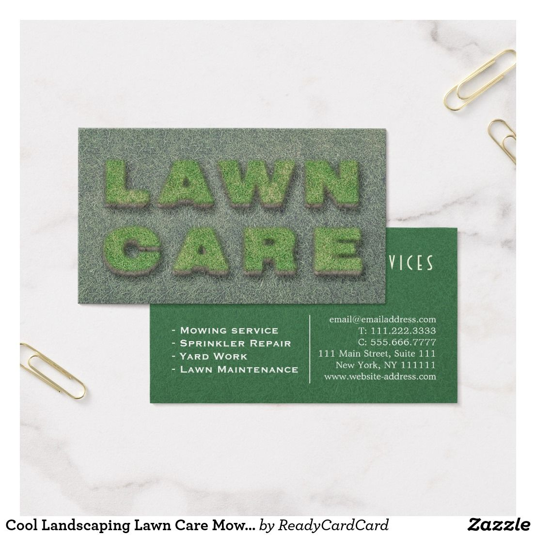 Cool Landscaping Lawn Care Mower Business Card | Business Cards ...