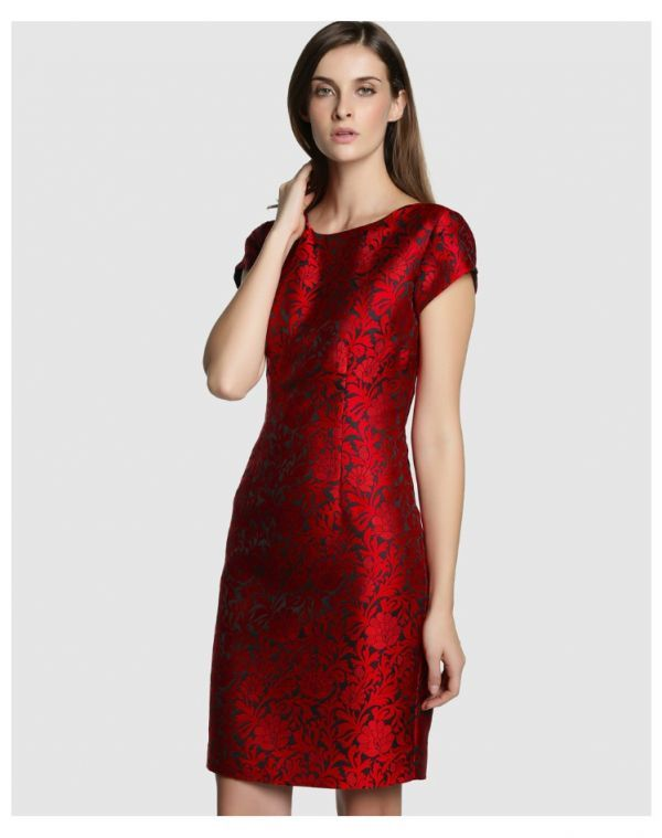 24697befc Vestido rojo brocado de Antea a la venta en El Corte Inglés ...