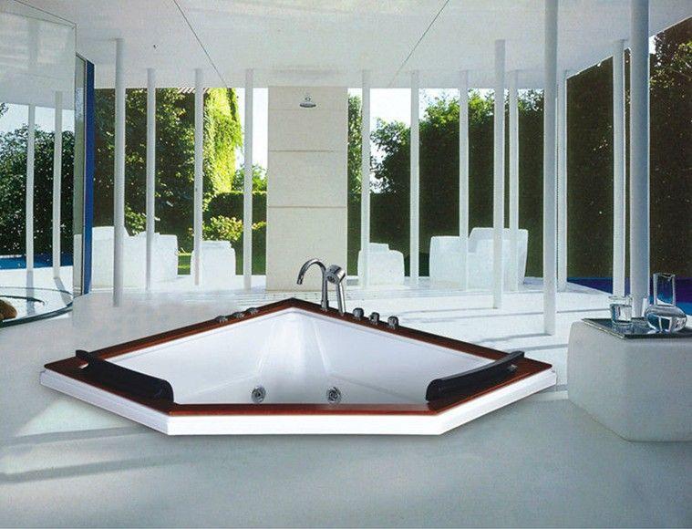No.B285A 1.5m Length Drop In Triangle Shape 2 People Bathtub Whirlpool Bath  Tub