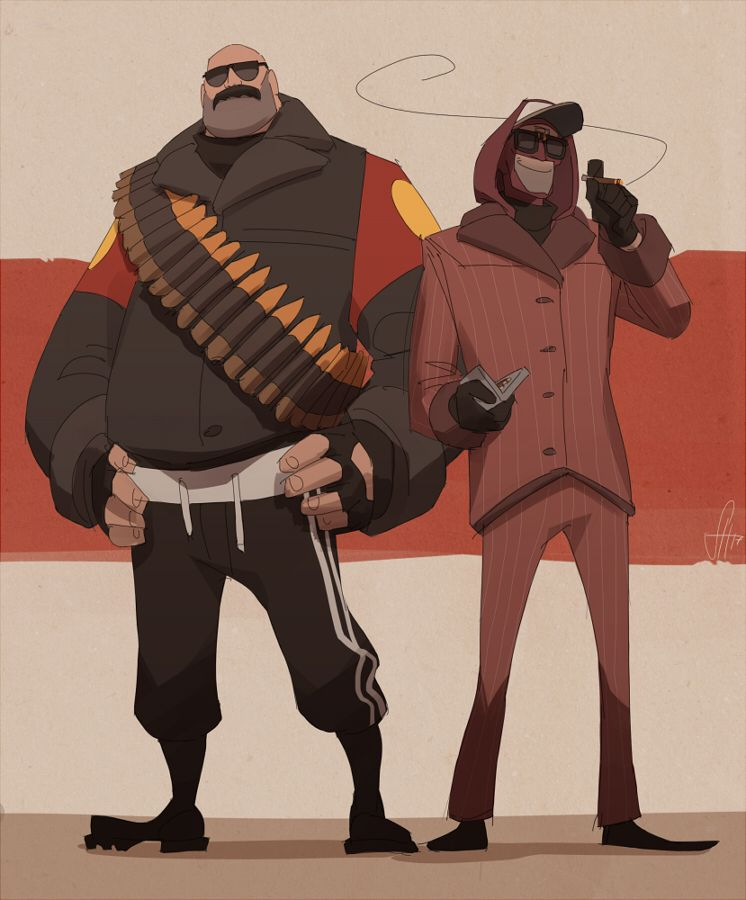 i got asked about my loadouts! and these two are my most played classes these days, recently discovered that playing heavy is lots of fun and spy is just… 98479235+ hours on the record orz